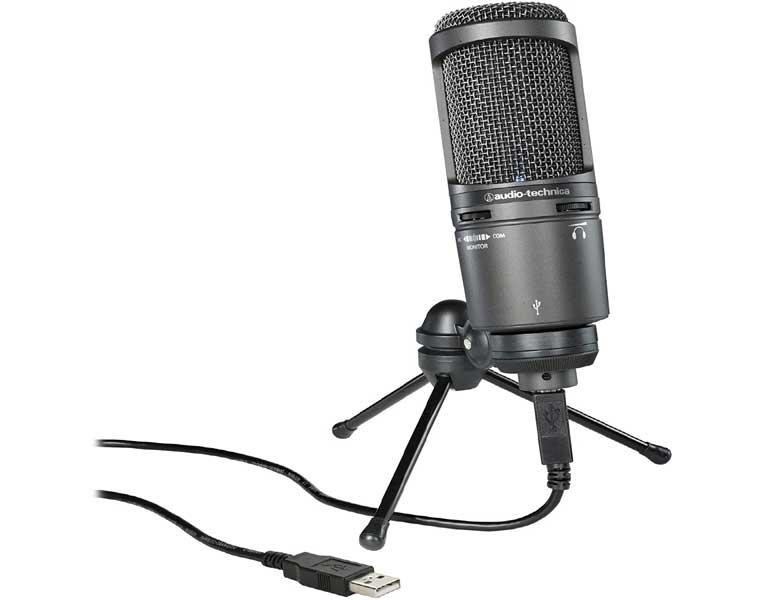 Audio Technica AT2020USB en Los Mejores Micrófonos para Streaming