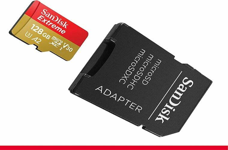 Tarjeta microSDXC para aumentar el espacio de almacenamiento de la consola.